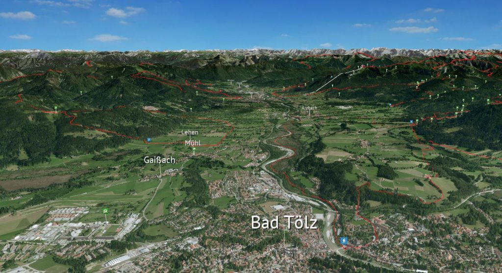 3D Karte Bad Tölz