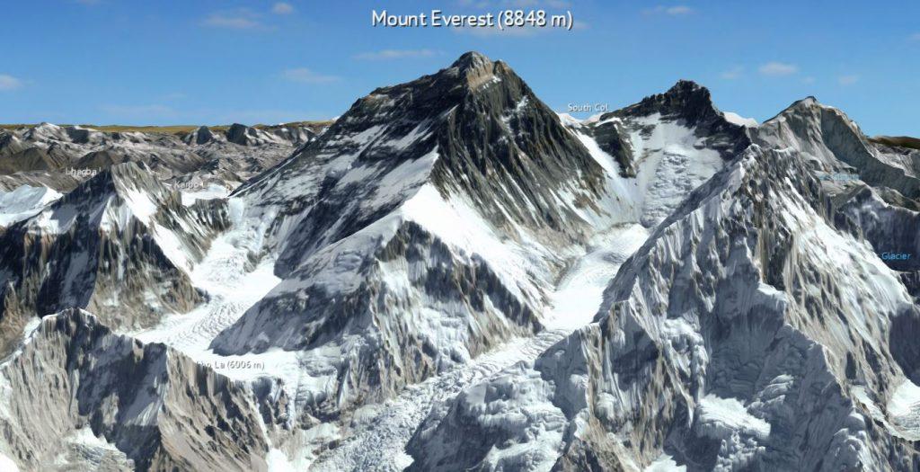 3D Karte Everest