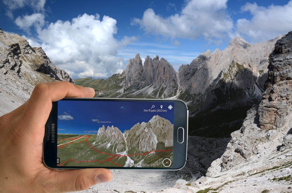 3D Karte Dolomiten
