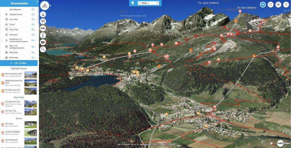 Webkarte St. Moritz