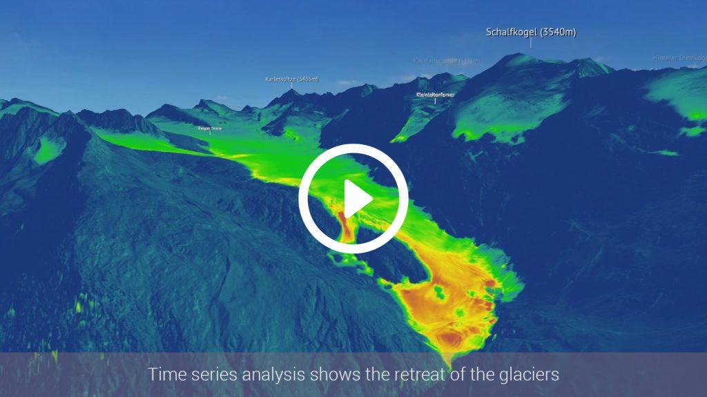 3D Animation Gletscherschwund
