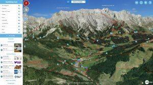 Tourismusregion Hochkönig in 3D