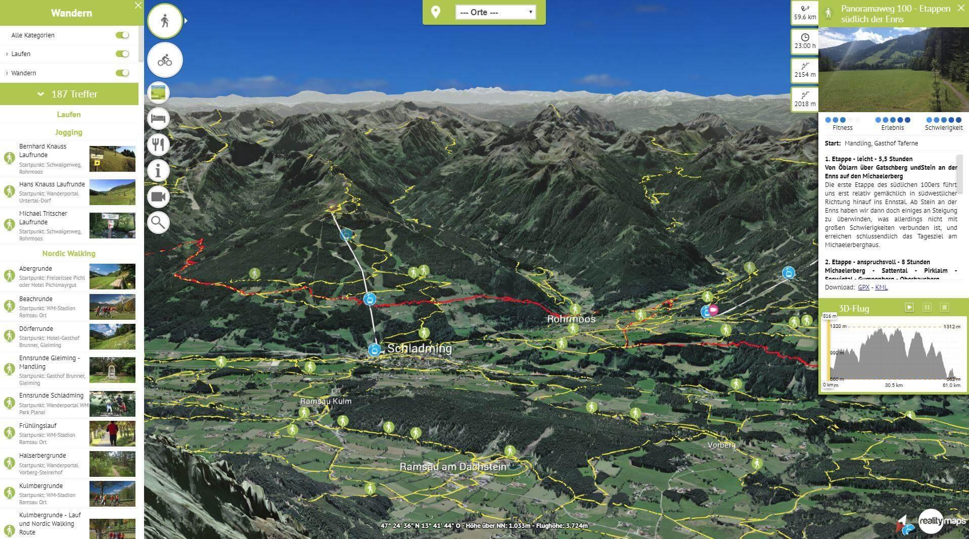 Neue Version von Schladming-Dachstein 3D