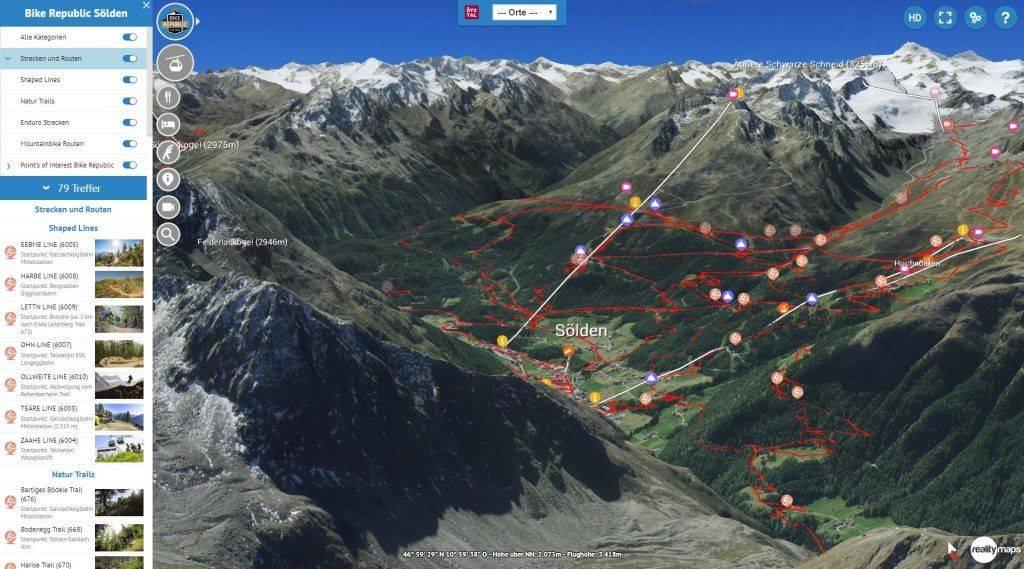 3D Karte Ötztal