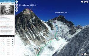 Livetracking am Mount Everest 2018