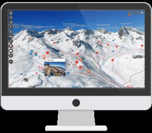 Webkarte Stubaier Gletscher