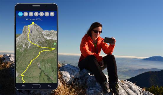 Orientierung mit der 3D Outdoor Guides App