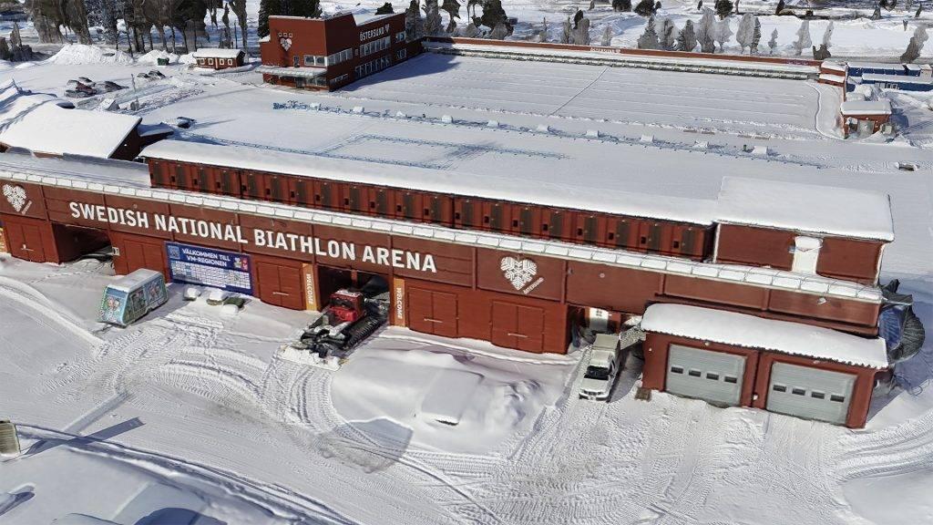 3D Modell Biathlon Arena Östersund