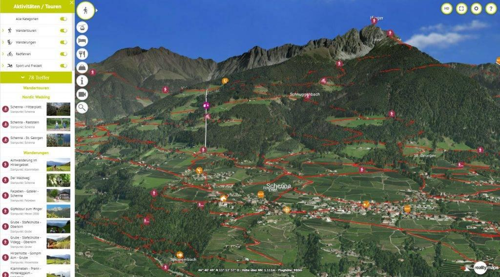 3D Karte Schenna