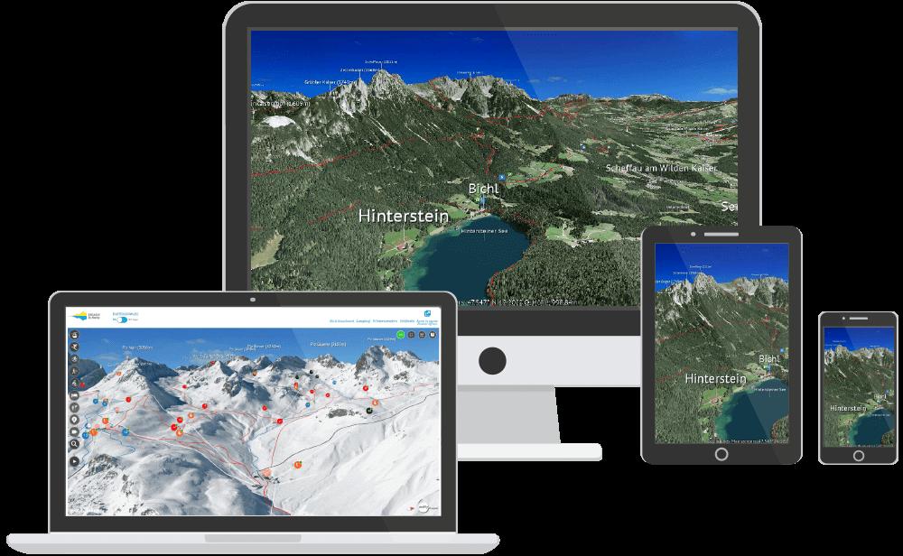 3D Karte auf verschiedenen Devices