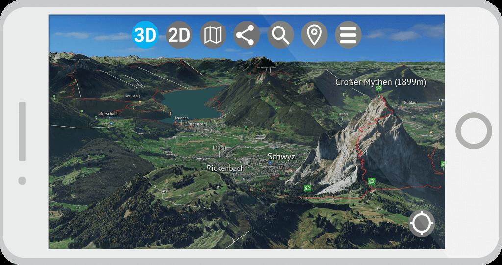 3D Karte Vierwaldstättersee App