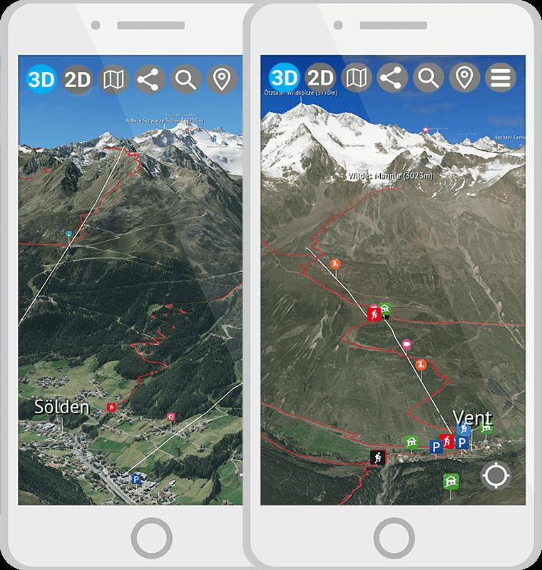 3D Karte Ötztal App