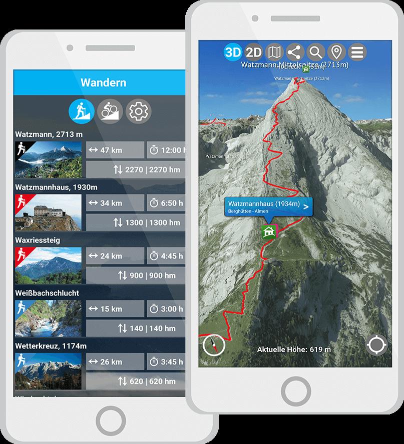3D Karte Berchtesgaden