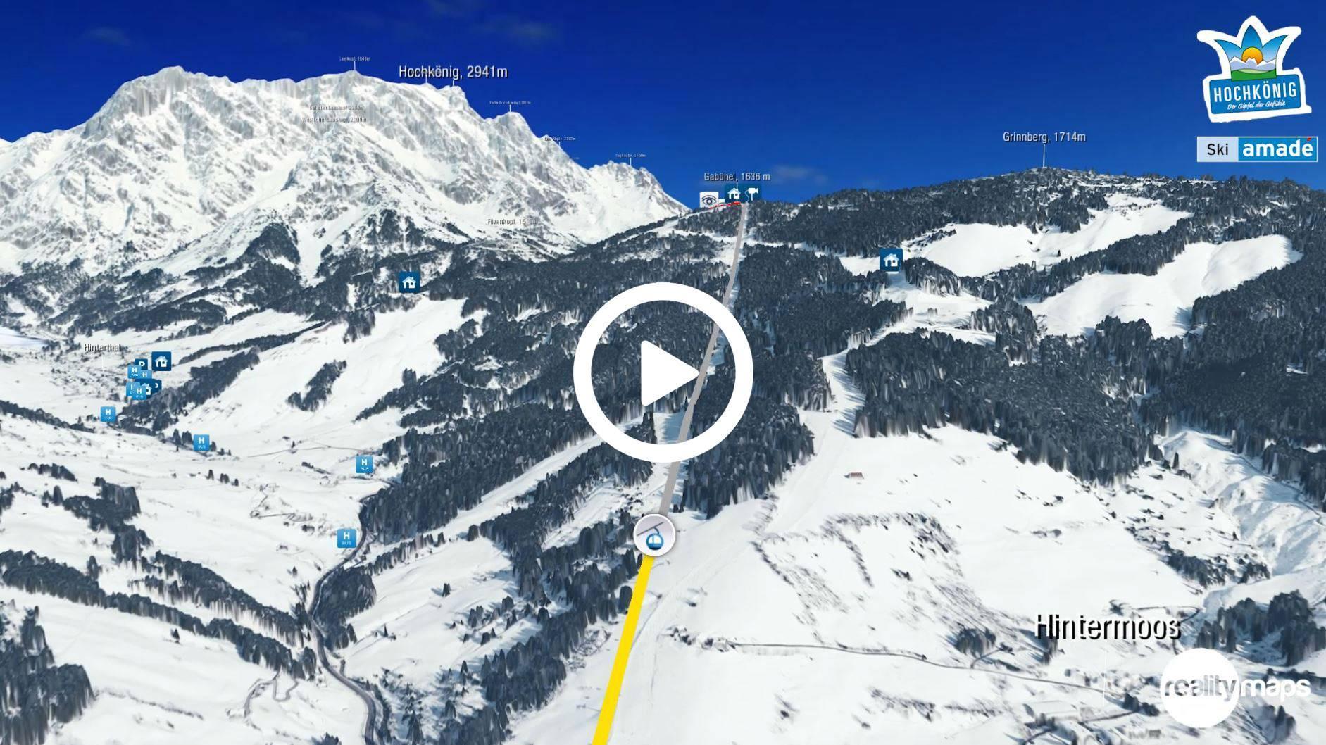 3D Animation Ski amadé Königstour