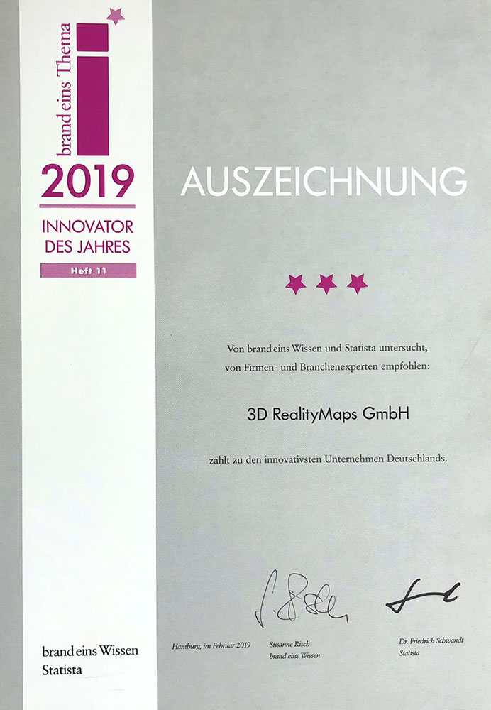 """Auszeichnung zum """"Innovator des Jahres 2019"""""""
