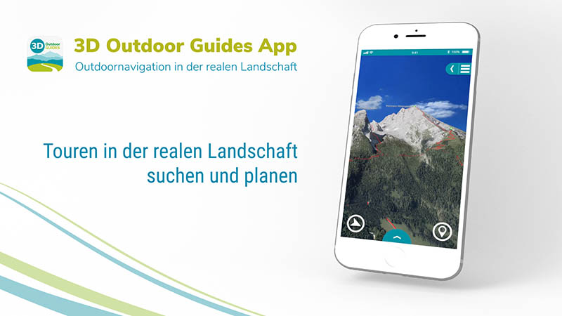 3D Outdoor Guides App in neuem Design