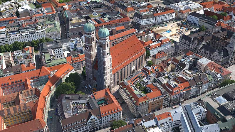 Die Münchner Innenstadt in 3D
