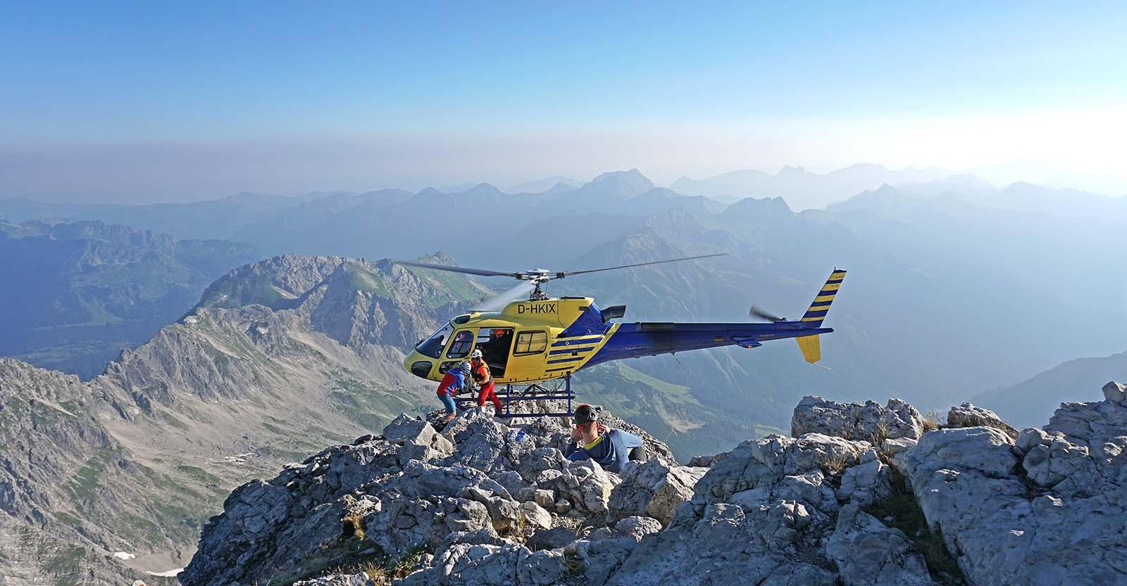 3D Vermessung des Gipfelaufbaus des Hochvogel (2592 m) im Allgäu