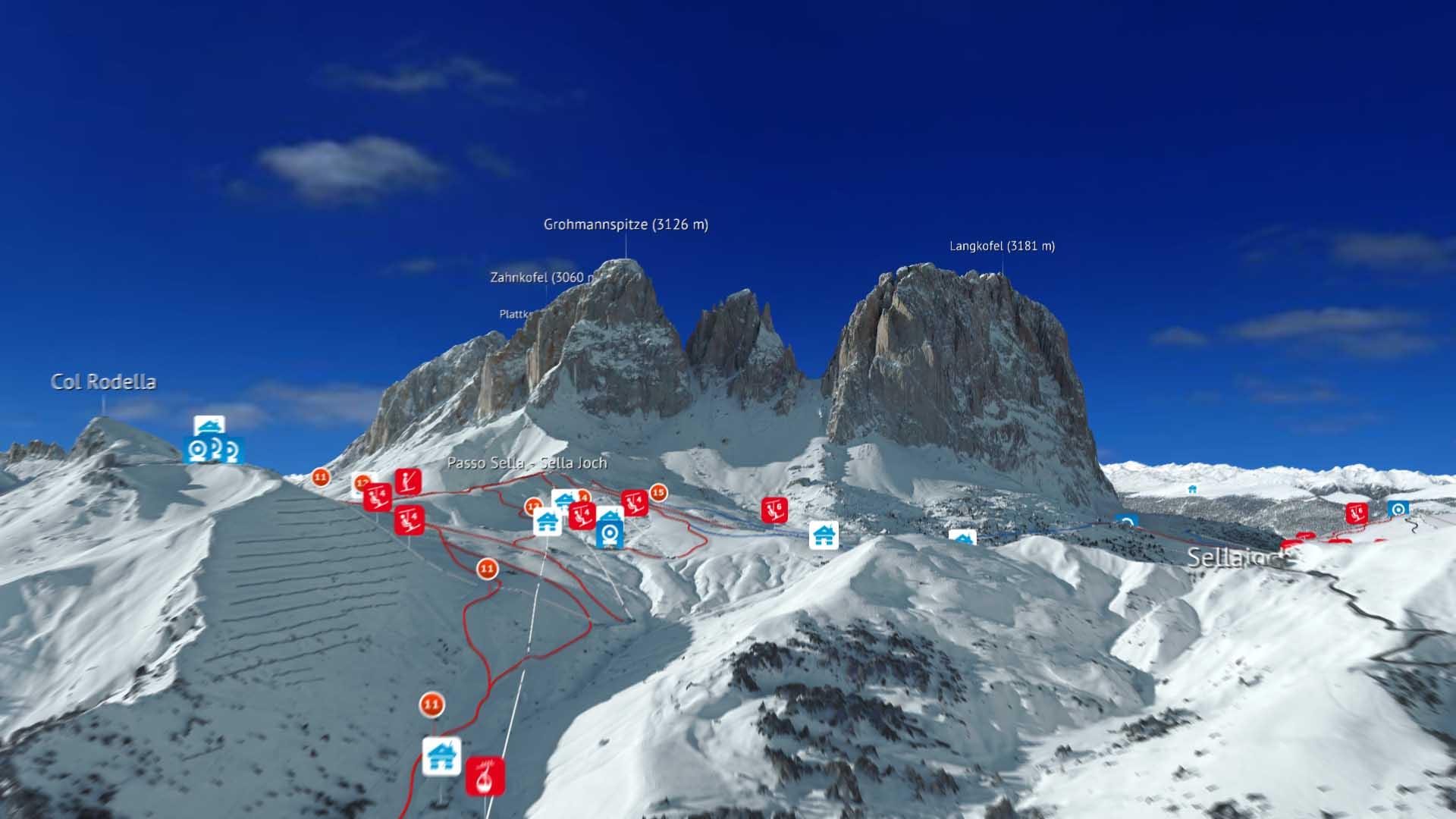 Neue interaktive Skigebietskarte Dolomiti Superski