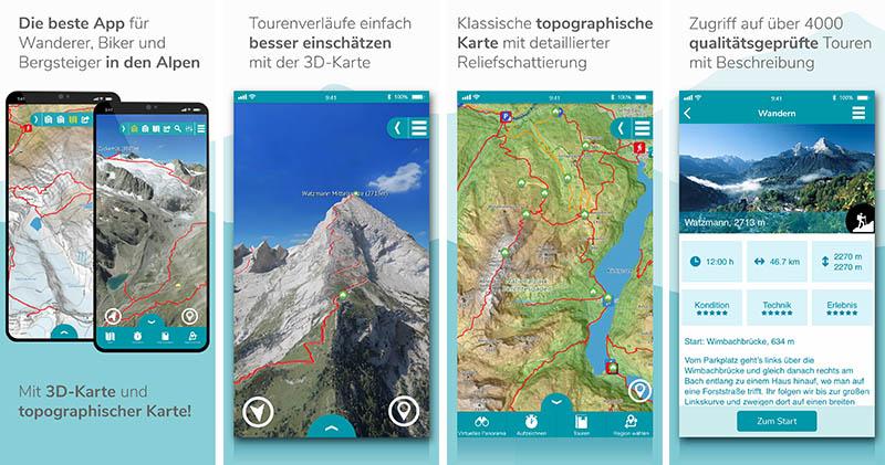 Die besten Wander-Apps